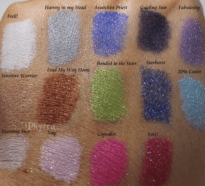 Geek Chic Cosmetics Scapers Collection Swatches and Review