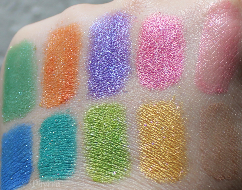 Fyrinnae, Space Age, Pop Art Mini Skirt, Polyester Witch, Bollywood Babe, It's A Mod World, London Mod, Gender Bent, Oh, My Stars!, Equal Rights Shine, Pleasant Valley Sundae, Swatches, Review