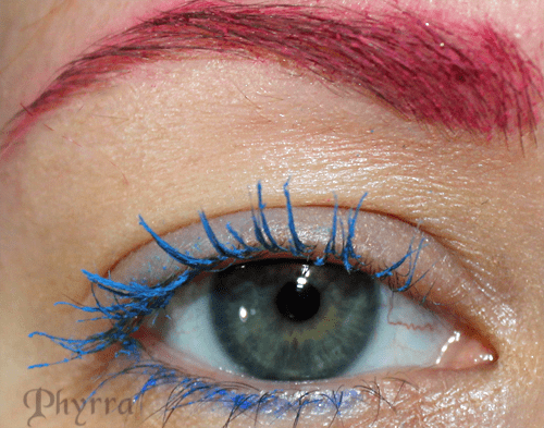 Wearing Anastasia Hypercolor Mascara in Blue and Pink