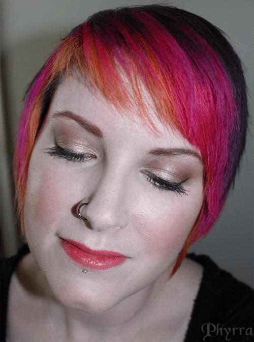 wearing Kat Von D Wish blush and Stila Tangerine Dream