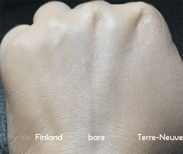 NARS Pure Radiant Tinted Moisturizer, Broad Spectrum SPF 30 in Terre Neuve and Finland, Review, Swatches, Comparison