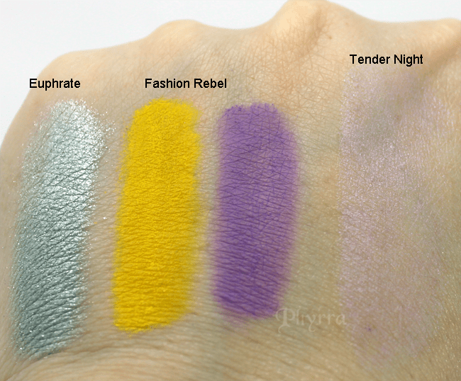 NARS Summer 2013 Euphrate, Fashion Rebel, Tender Night, Swatches, Review