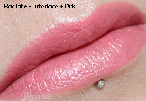 OCC Makeup Radiate, Interlace and Pris mixed together.