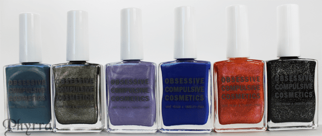 Obsessive Compulsive Cosmetics Sci-Fi Lullabies Nail Polish Collection Review and Swatches
