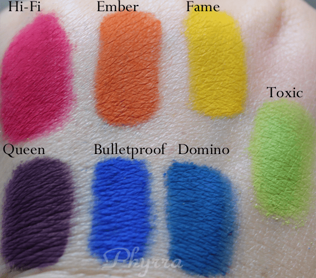 Concrete Minerals Pro Matte Eyeshadows Review and Swatches