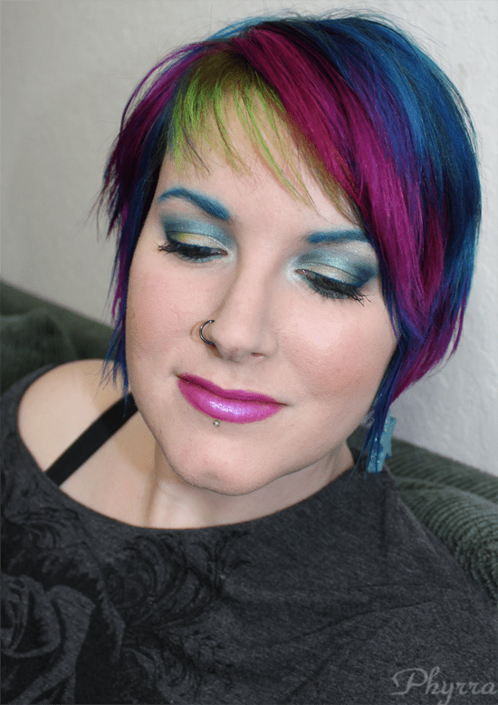 Teal and Chartreuse Look