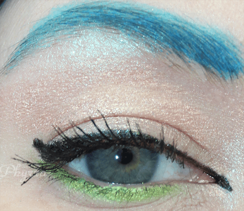 Wearing Sugarpill Lumi and Absinthe, Jesse's Girl liner and MUFE 13