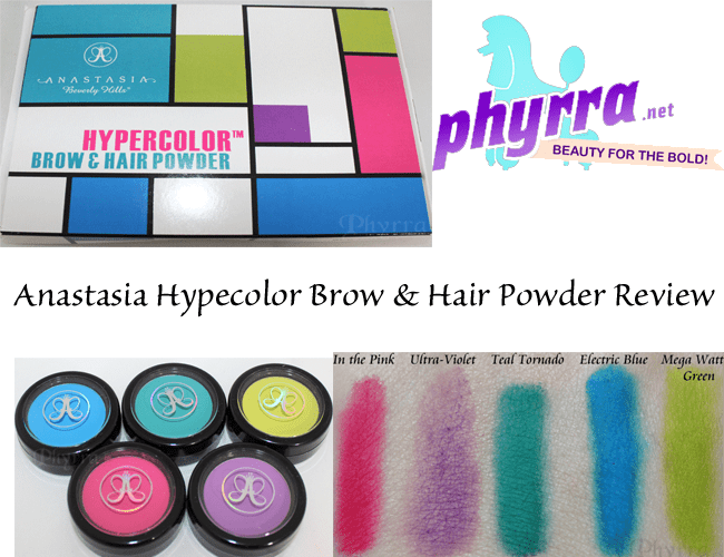Anastasia Hypercolor Brow and Hair Powder Review and Swatches