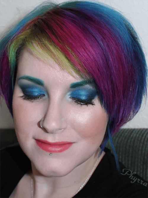 Teal Blue and Black tutorial
