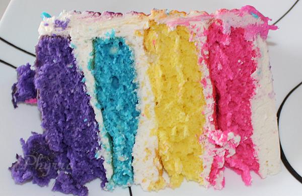Vivid Rainbow Cake