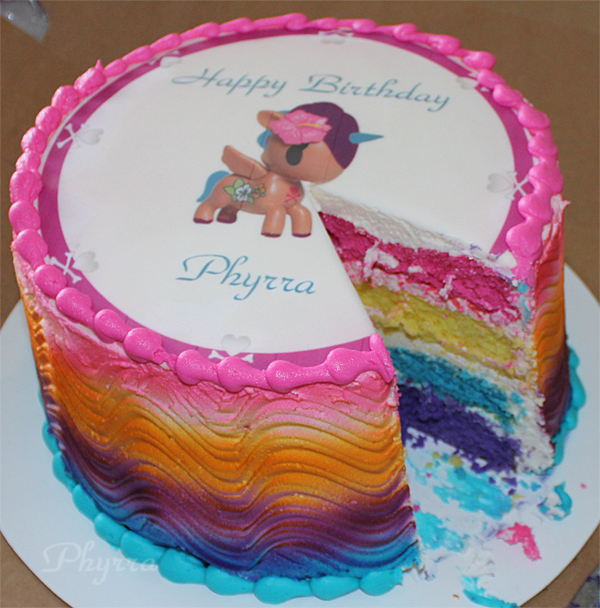 tokidoki unicorno ombre rainbow cake