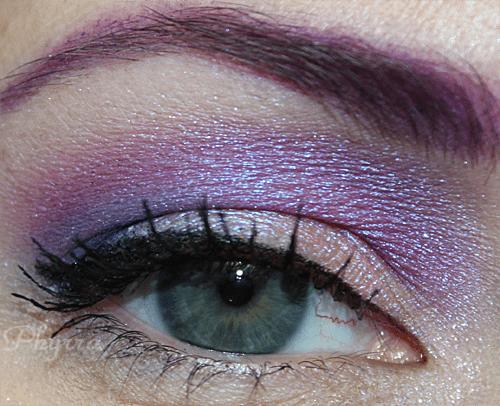Peach and Violet eyeshadow look