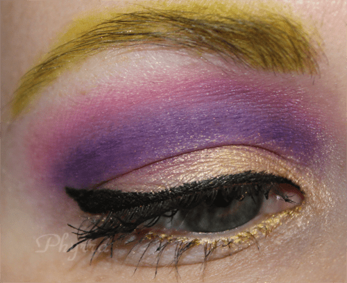 Nyx Pink, Purple and Gold Look