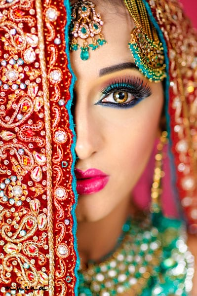 Indian Jeweled Hairstyle