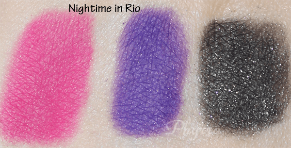 Nyx Nightime in Rio Swatches, Review