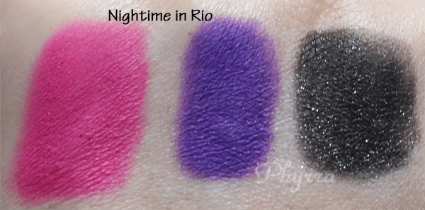 Nyx Nightime in Rio Swatches