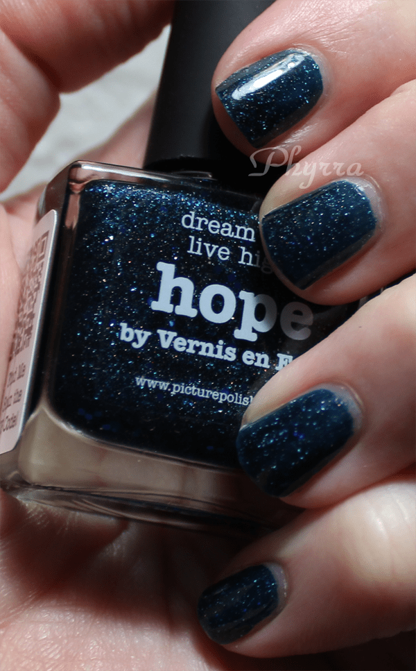 piCture pOlish hope nail polish review, swatches, manicure