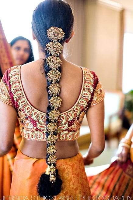 Indian South-style braided hair