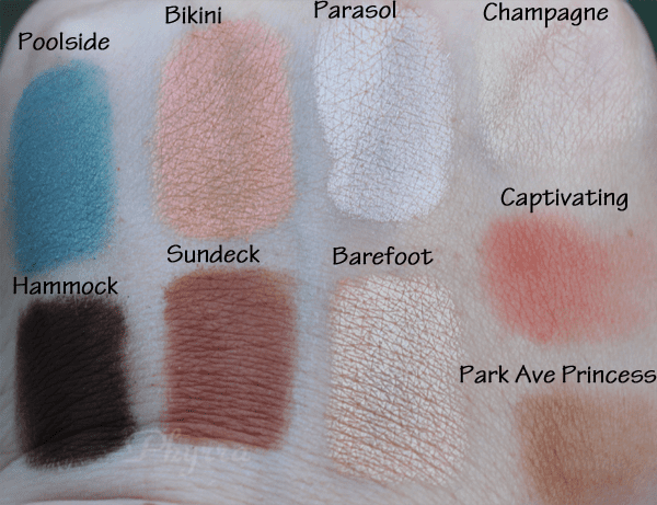 Aqualillies for tarte Amazonian clay waterproof eye and cheek palette swatches and review
