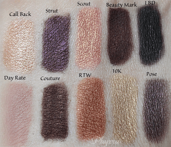Anastasia Catwalk Palette Review and Swatches