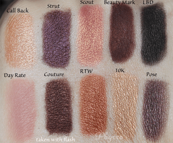 Anastasia Catwalk Palette Swatches and Review