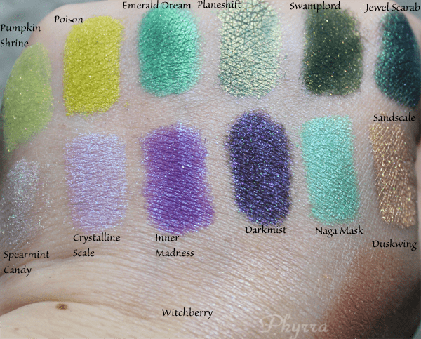 Femme Fatale Cosmetics Eyeshadows Swatches and Review