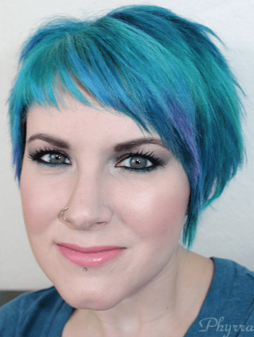 Wearing Urban Decay Revolution Lipstick in Native and Performance Colors Snowie Foundation