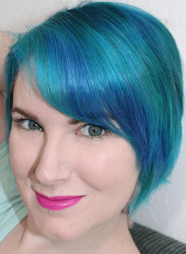 Wearing Urban Decay Revolution Lipstick