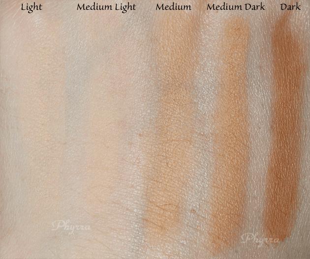 Urban Decay Naked Skin Ultra Definition Pressed Finishing Powder Light, Medium Light, Medium, Medium Dark, Dark, swatches and Review