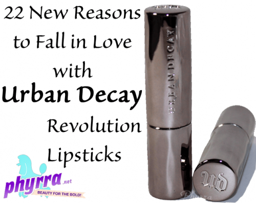 22 New Reasons to Fall in Love With Urban Decay Revolution Lipsticks