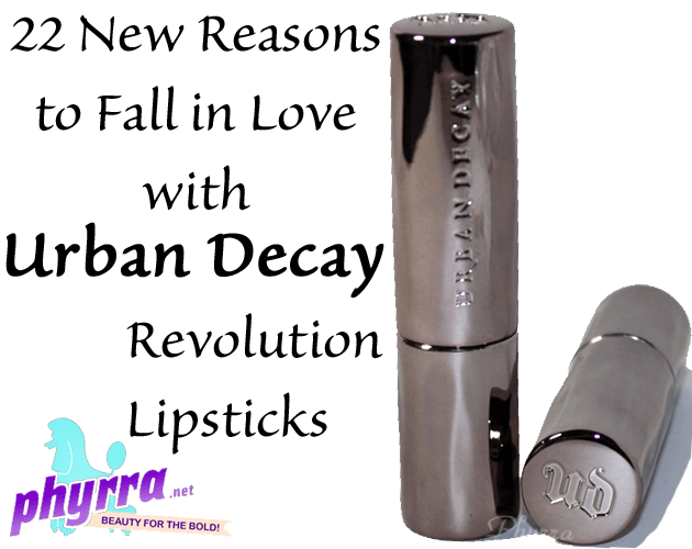 Urban Decay Revolution Lipsticks Review and Swatches