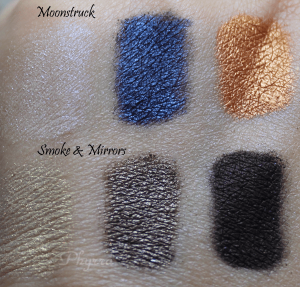Prestige Beauty Total Intensity Bold Eyeshadow trio, Smoke and Mirrors, Moonstruck, Review and Swatches