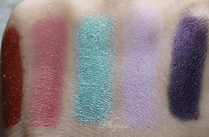 Sugarpill Sparkle Baby and Cold Chemistry Asteria, Kitten Parade, Candycrush, Frostine, Elemental Chaos swatches 4
