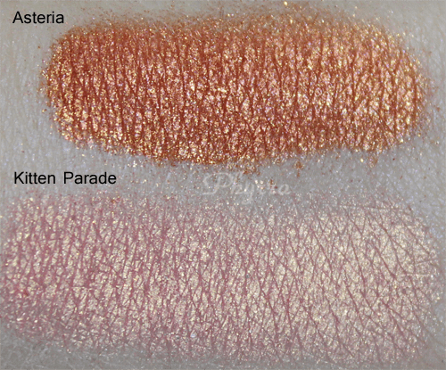 Sugarpill Sparkle Baby Asteria and Kitten Parade Swatches