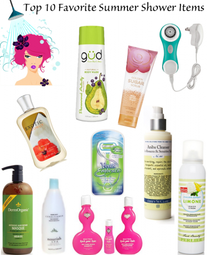 Top 10 Favorite Summer Shower Items