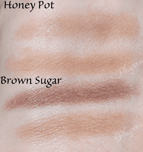 Urban Decay Perfect Brow Box Review Brown Sugar and Honey Pot Swatches review