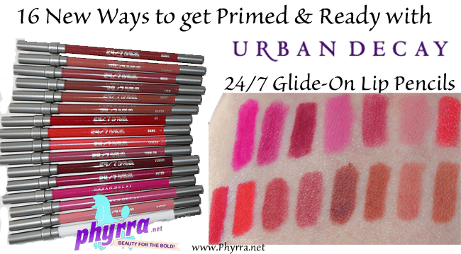 Urban Decay 24/7 Glide-On Lip Pencils Review and Swatches