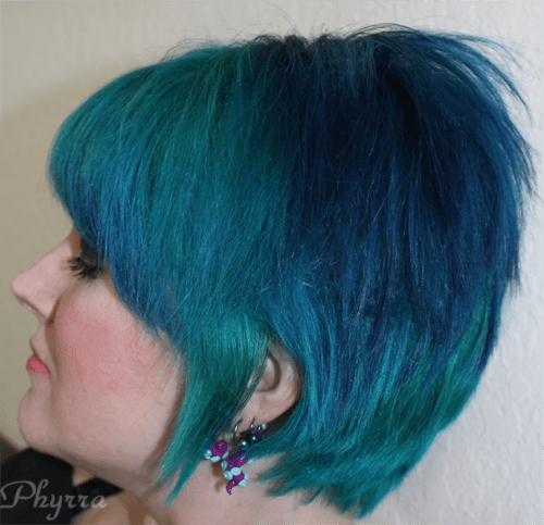 Manic Panic Atomic Turquoise Amplified Cream and After Midnight Blue