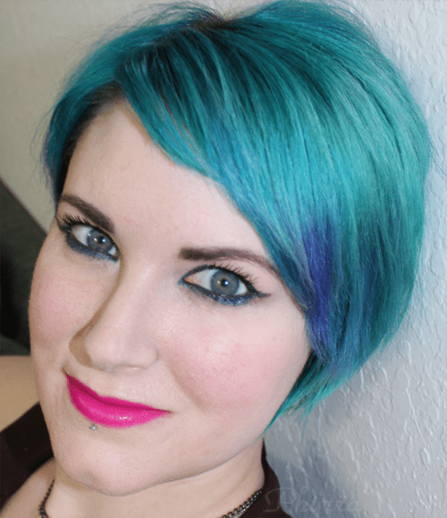 Wearing Urban Decay Revolution Anarchy Lipstick and Too Faced Pretty Rebel Badass