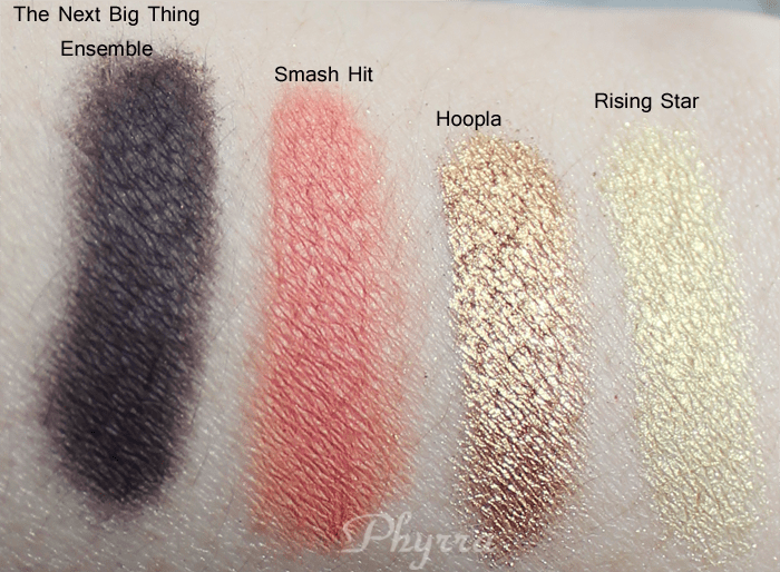 bareMinerals the Next Big Thing Swatches