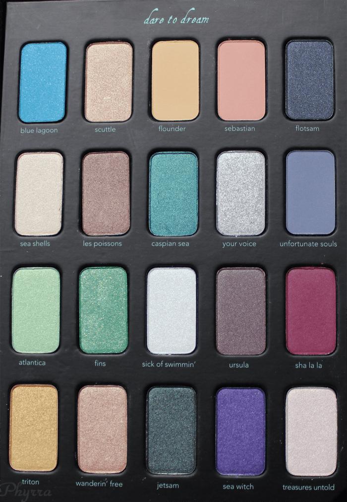 Sephora Disney Ariel Storylook Palette Vol. 3 Eyeshadows in the Palette
