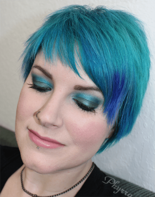 Makeup Wars Green and Turquoise Blue Makeup tutorial look