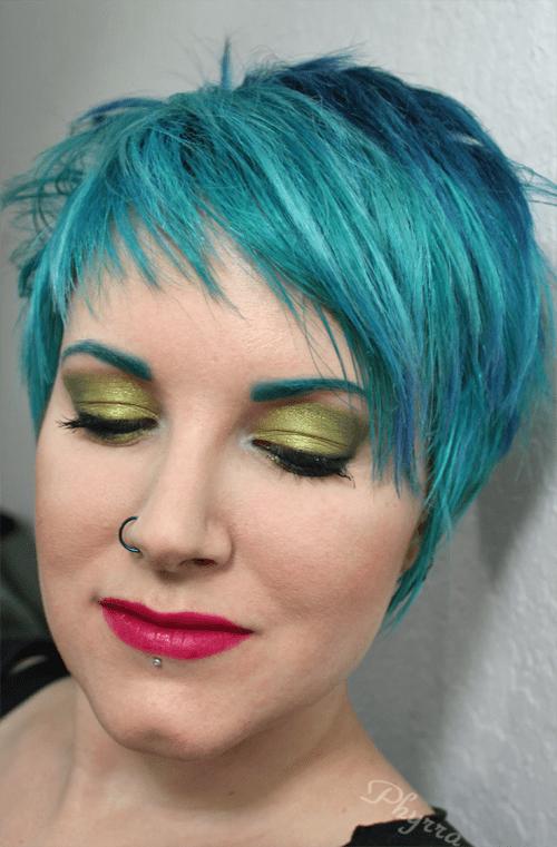 Wearing Kat Von d Spellbinding Eyeshadow Book, Cover FX CC Cream and Obsessive Compulsive Cosmetics Strumpet Lip Tar