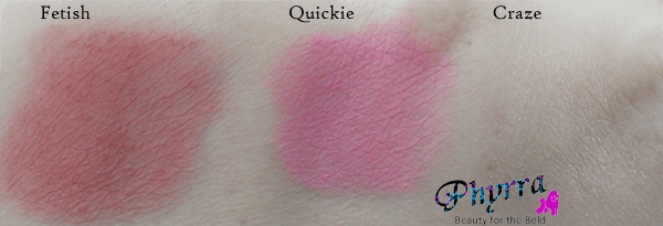 Urban Decay Face Case Anarchy Blush and highlighter Swatches
