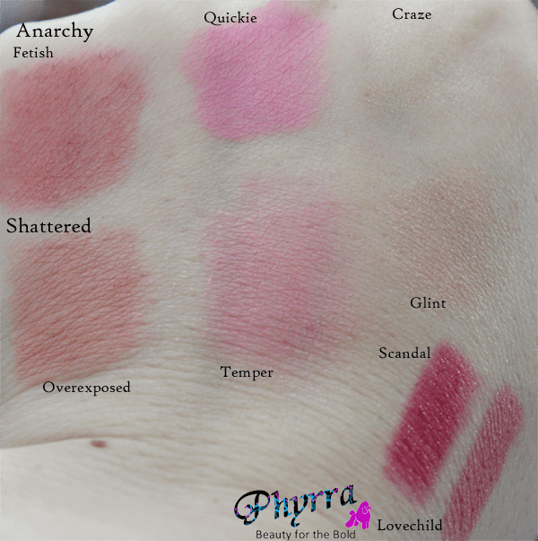 Urban Decay Face Case Swatches