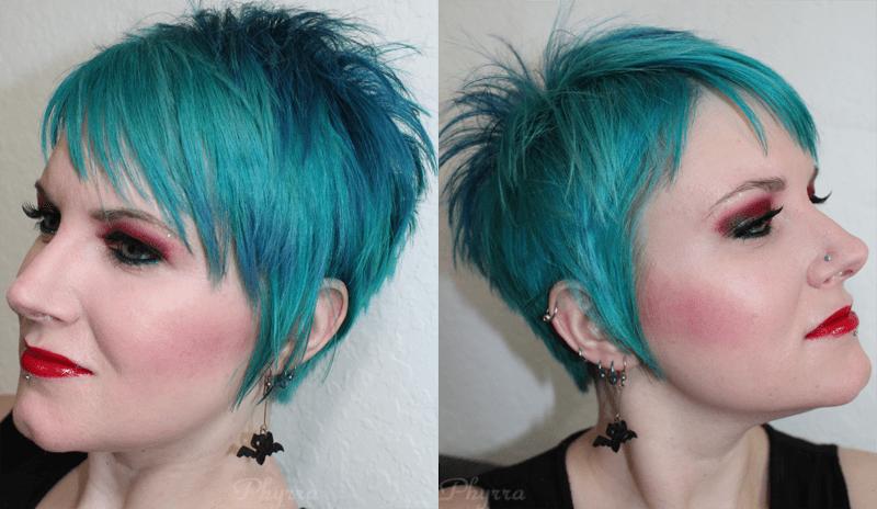 September 2013 Short Spiky Blue Pixie Cut - Phyrra