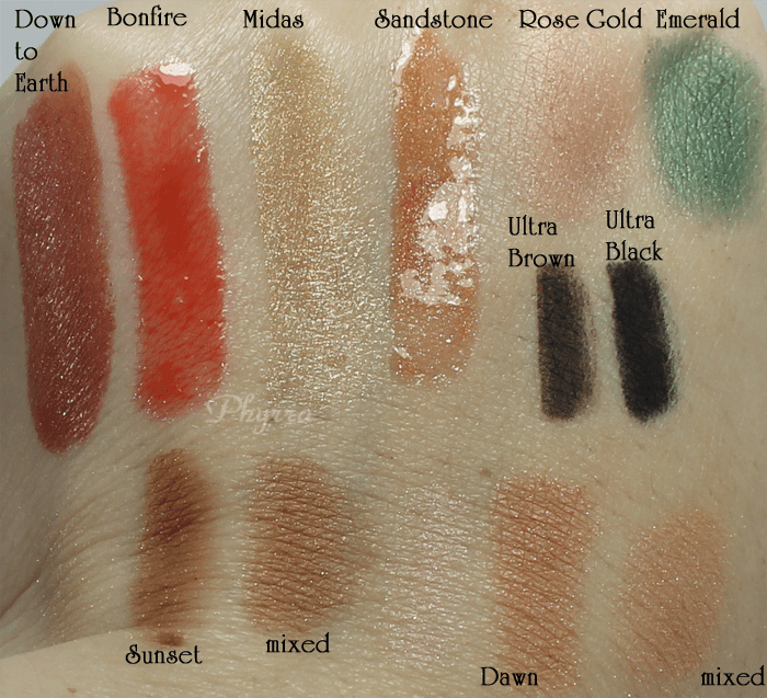 Senna Cosmetics Sunglow Collection Review and Swatches