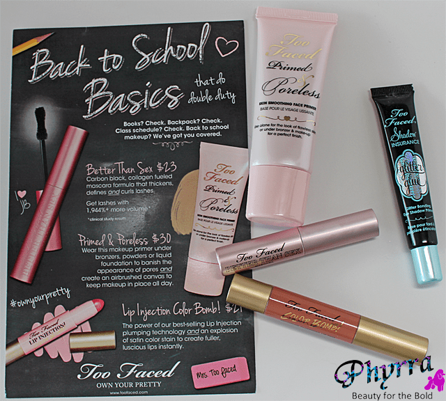 Too Faced Back to School