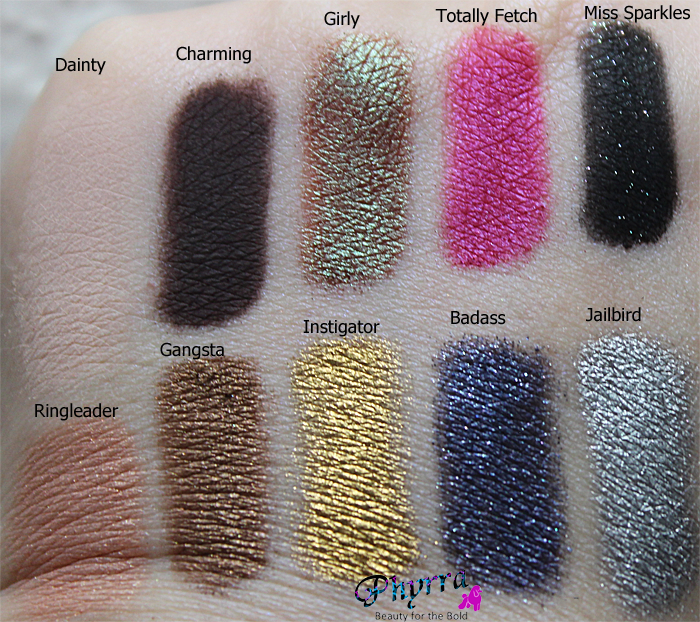 Too Faced Pretty Rebel Eyeshadow Palette Swatches, Review, Video