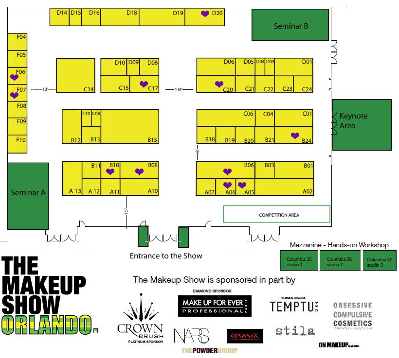 The Makeup Show Orlando Floor Plan 2013